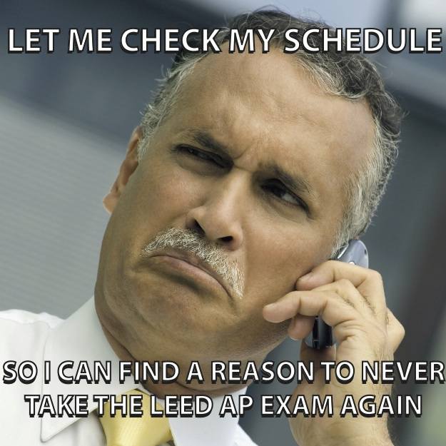 LEED AP not wanting to re-take the LEED Exam