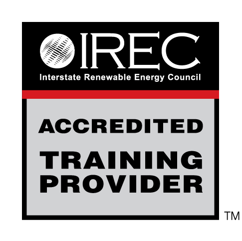 Everblue's solar training programs are IREC Accredited