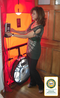 BPI Training with Blower Door and Monometer Pressure Device