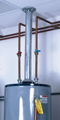 Naturally drafted gas water heater