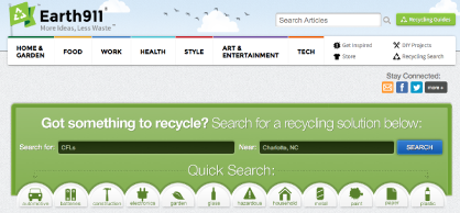 Earth911 Recycling Search